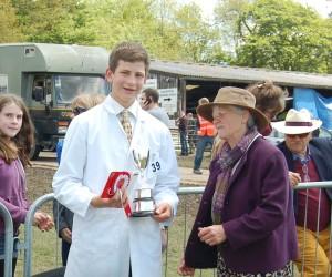 Alfie Dallaway winning the Young Handler cup