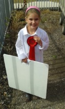 Taya and her first rosette