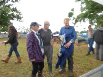 Adam Henson (R) chats to Mandy (far L) & Nick Hargrave (mid)